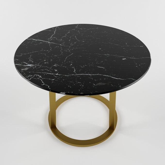 Журнальный столик с мраморной столешницей DRUM large gold