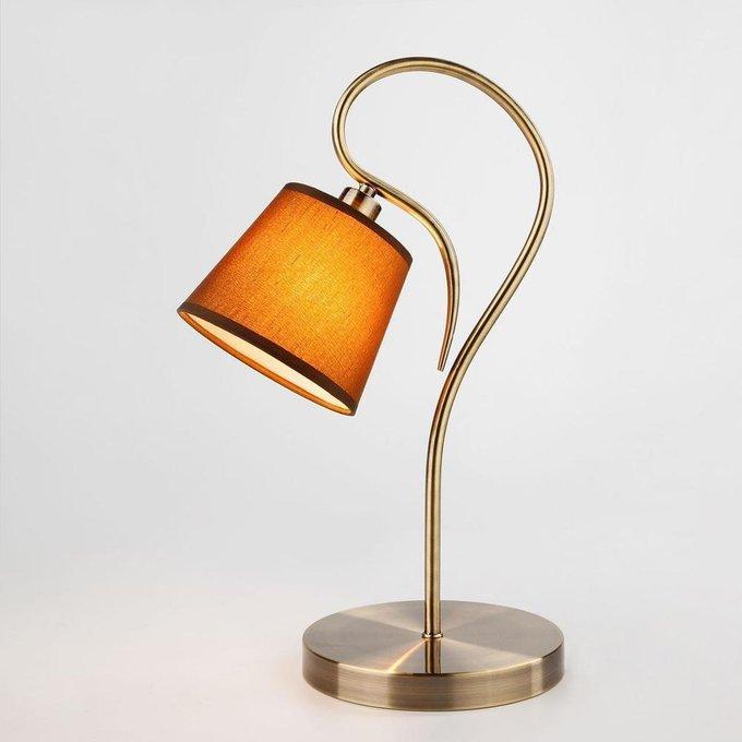 Настольная лампа Lilly с коричневым абажуром