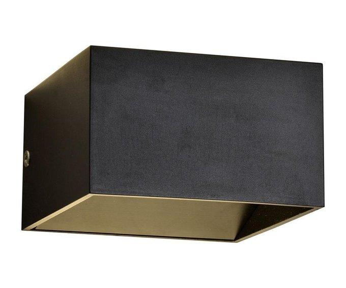 Настенный светодиодный светильник Куб черного цвета