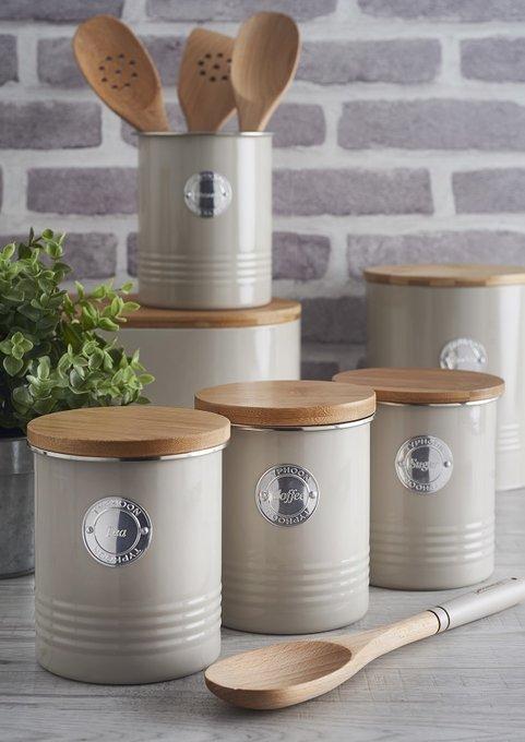 Емкость для хранения кофе Living жемчужного цвета