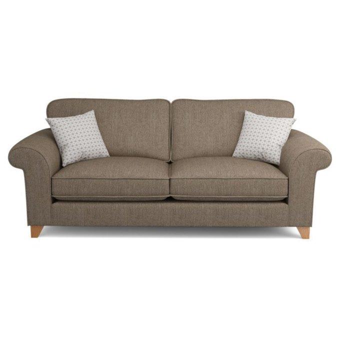 Трехместный диван Angelic коричневый