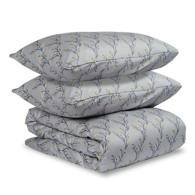 Комплект постельного белья Essential из сатина с принтом соцветие 200х210