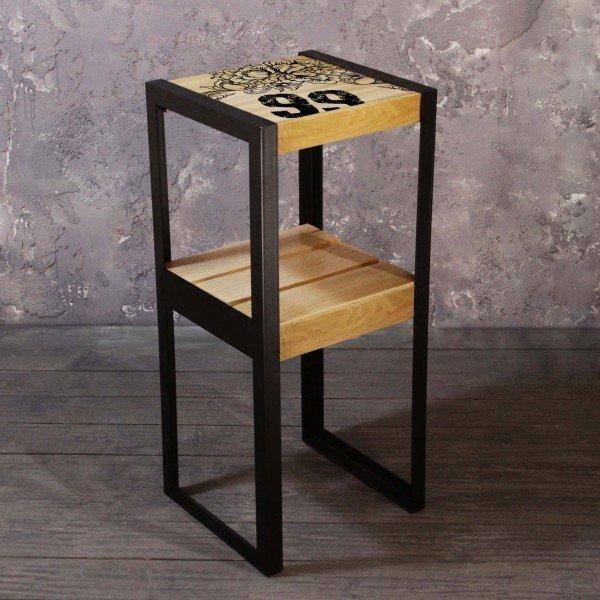 Кофейный столик Airoak из массива дуба и стали