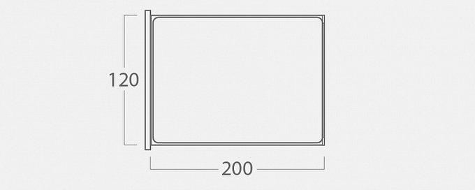 Кровать Монблан с подъемным механизмом из черной экокожи 120х200