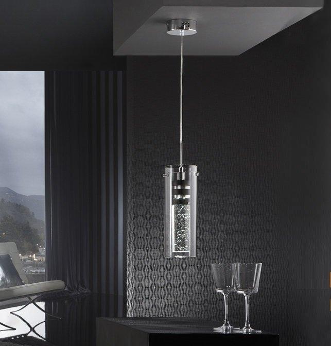 Подвесной светильник Schuller Bubble с плафоном из прозрачного стекла