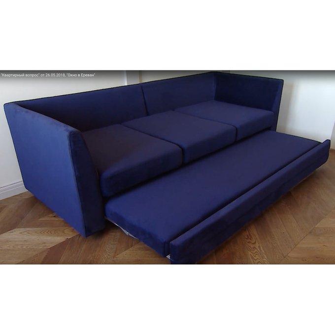 Диван-кровать Франкфурт темно-серого цвета