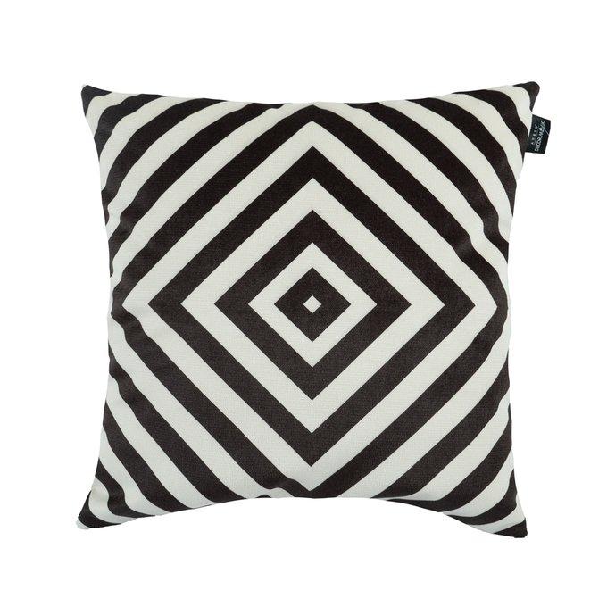 Декоративная подушка Labirint черно-белого цвета 45х45