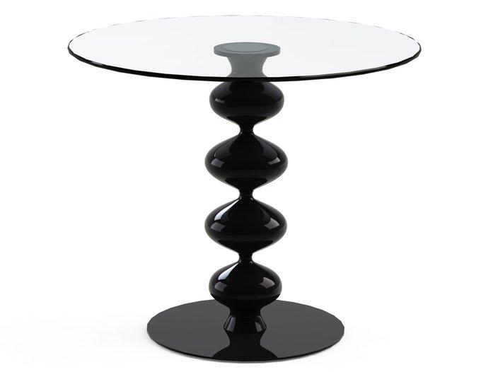 """Обеденный стол """"CRIADOR Black"""" с круглой столешницей из закаленного стекла"""