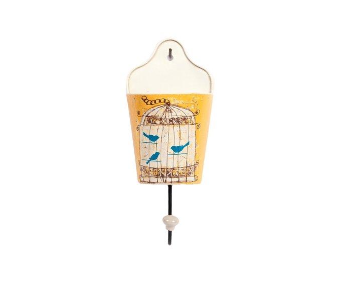 Настенный крючок Birdie In Pocket Yellow