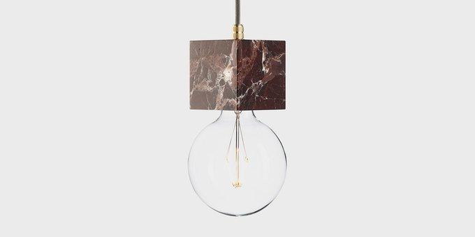 Подвесной светильник из мрамора Marmor Veldi rosso