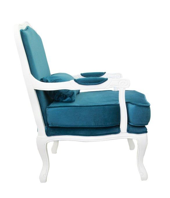 Полукресло Nitro blue+white с голубой обивкой