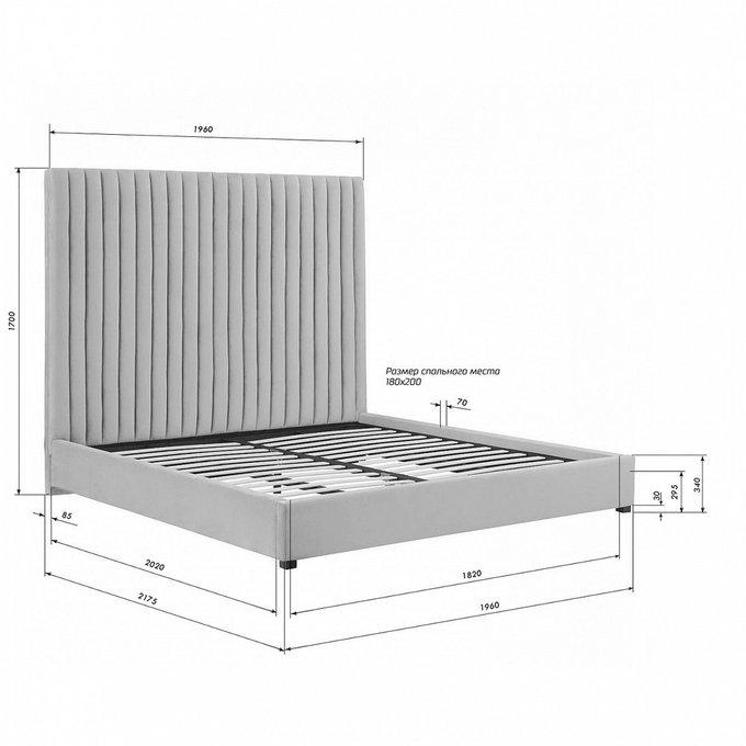 Кровать Mora цвета  морской волны  180х200