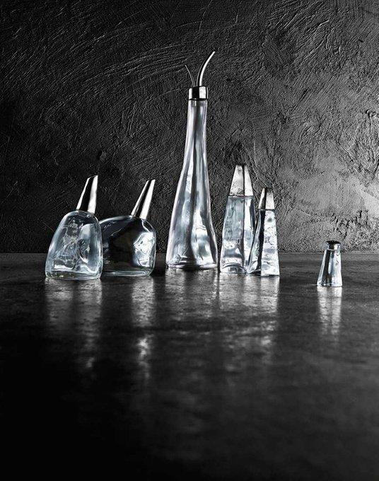 Солонка из стали и стекла