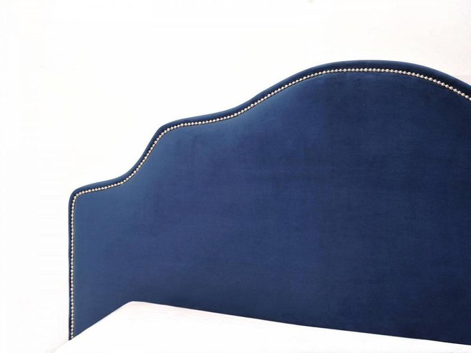 """Кровать """"Queen Victoria"""" с тёмно-синим изголовьем 160х200 см"""