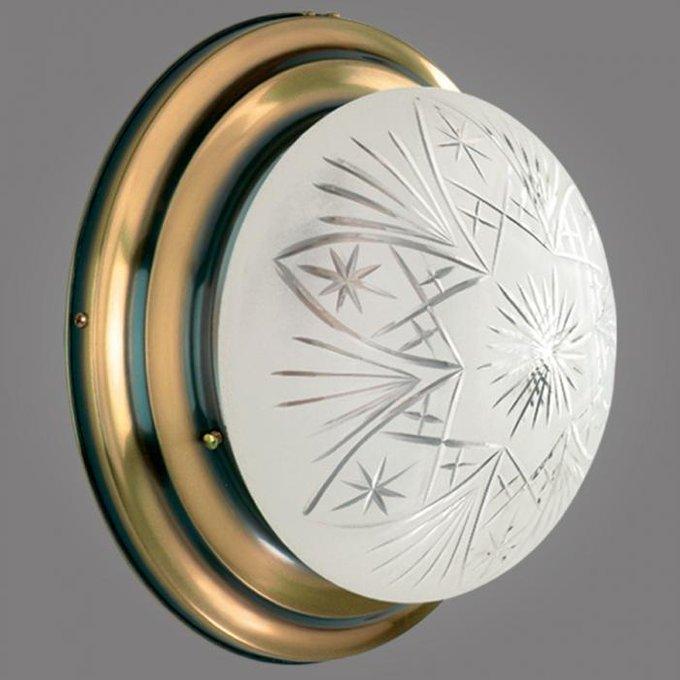 Настенный светильник Ouro из металла и стекла