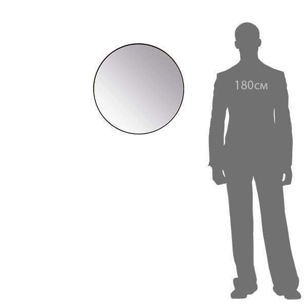 Зеркало настенное Орбита М черного цвета