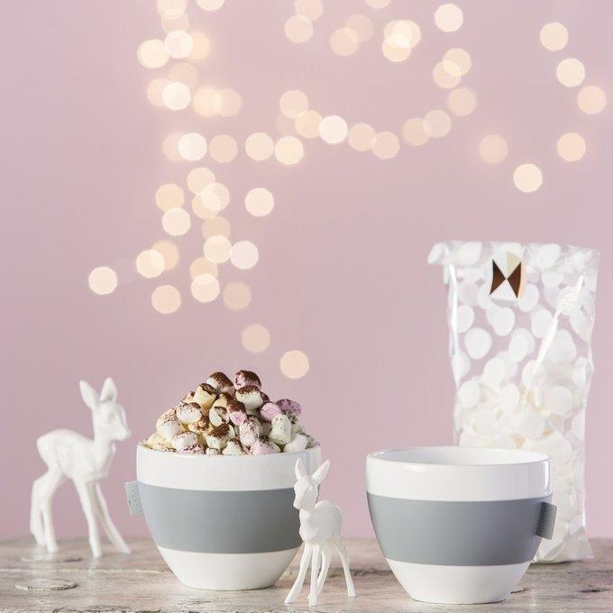 Чашка с термоэффектом Aroma бело-розового цвета