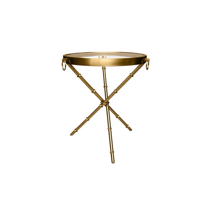 Стол приставной цвета матового золота