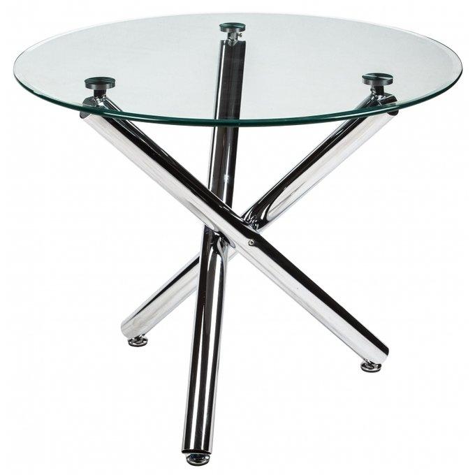 Обеденный стол Kira со стеклянной столешницей