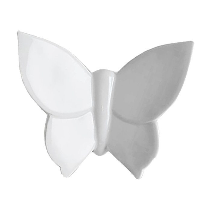 Настенный декор бабочка Butterfly белого цвета