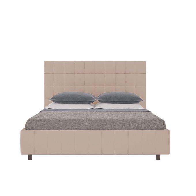 Кровать Shining Modern с мягким изголовьем и прочным деревянным каркасом 200х200