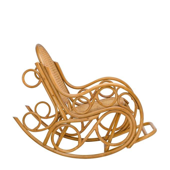 Кресло-качалка Novo с подушкой мед