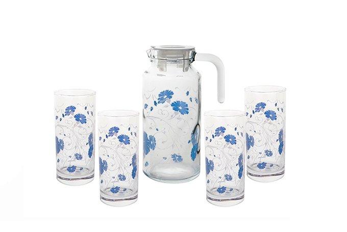Pasabahce Набор Кувшин+стаканы Blue Serenade