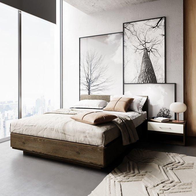 Кровать Сиена 160х200 с серым изголовьем и подъемным механизмом