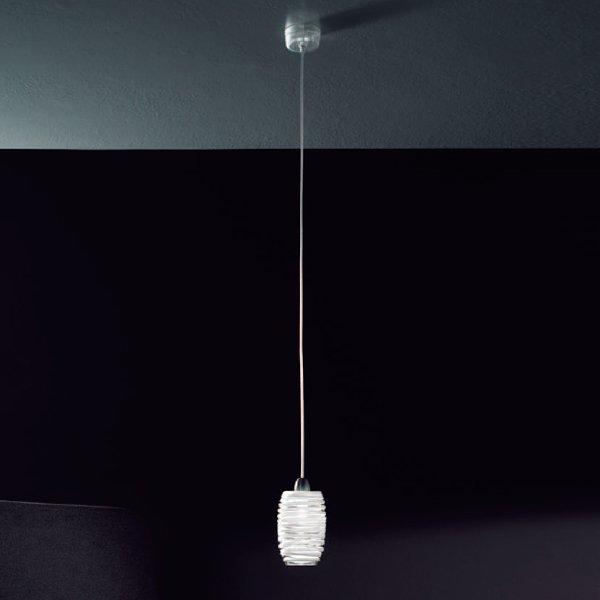 Подвесной светильник Vistosi  из муранского стекла цвета топаз выполнен в виде кокона