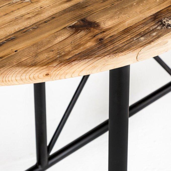 Обеденный стол Континенталь из натурального дерева и металла