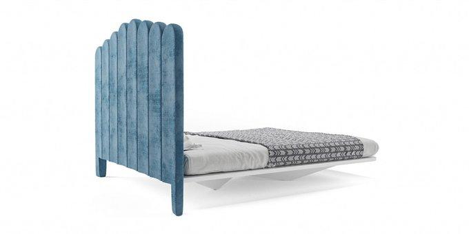 Кровать Пино Нуар 160х200 с изголовьем синего цвета