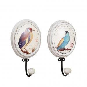 Крючок Wood Wall Hook with Bird Image
