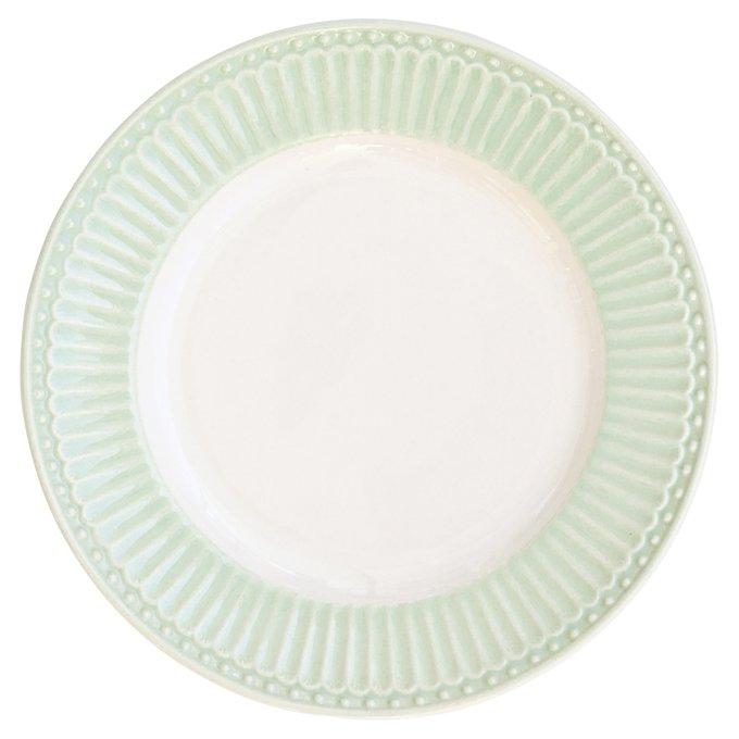 Десертная тарелка Alice pale green из фарфора