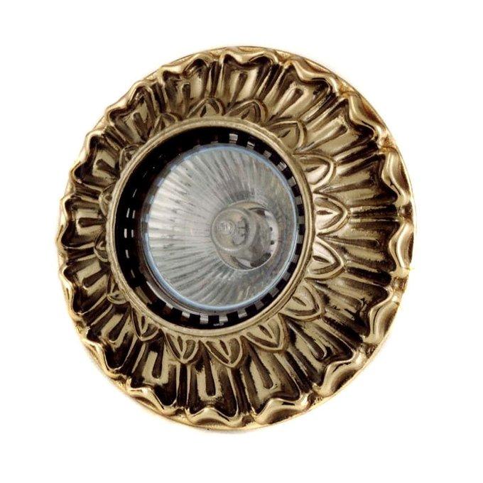 Встраиваемый светильник Antonio Ciulli из металла золотого цвета