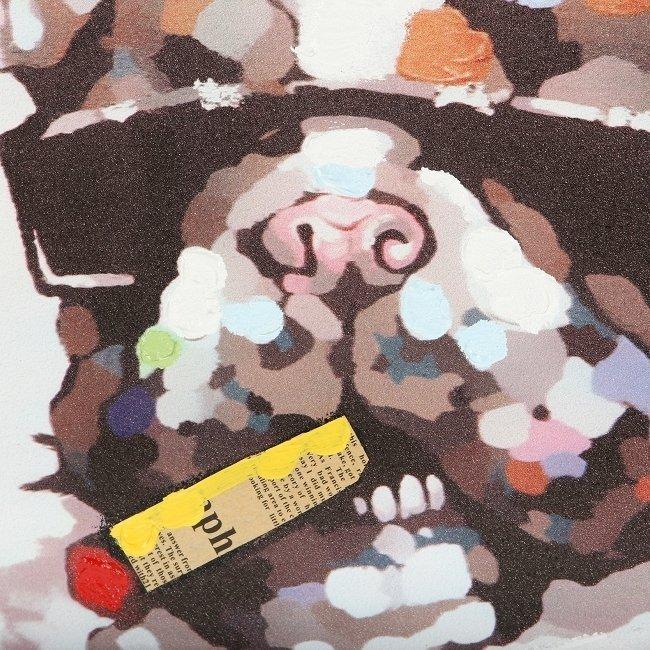 Картина на холсте Bulldog с подрамником 50х50