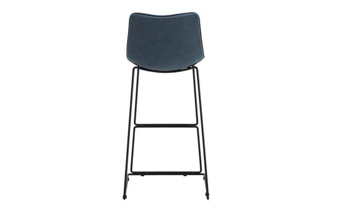 Барный стул синего цвета
