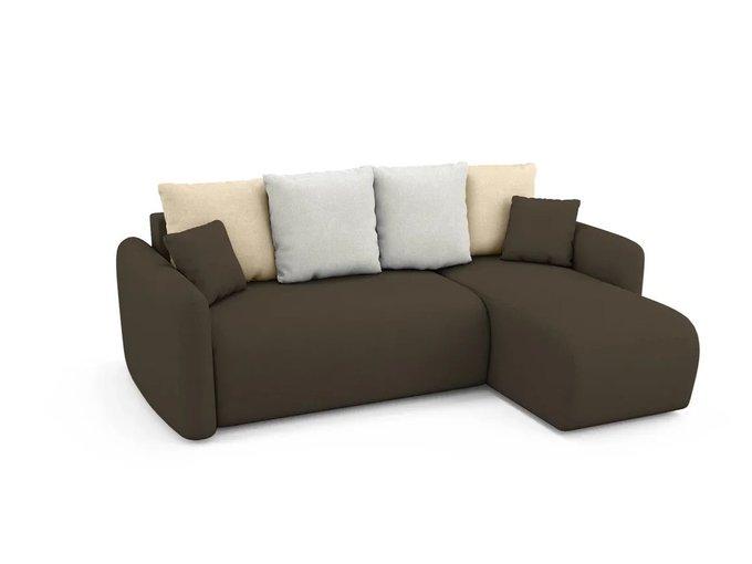 Угловой Диван-кровать Arti правый темно-коричневого цвета