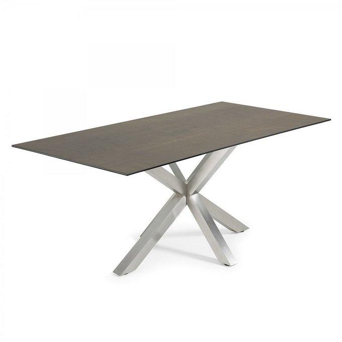Обеденный стол Arya со столешницей из керамики и стекла