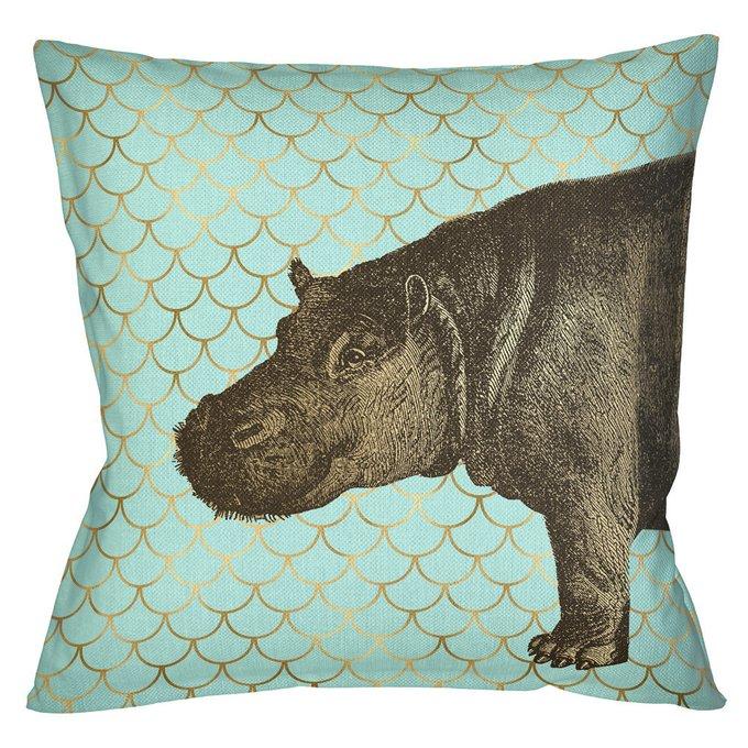Интерьерная подушка Самый обыкновенный бегемот 45х45