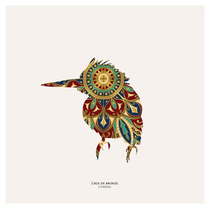 "Картина ""Бронзовый век, птица """
