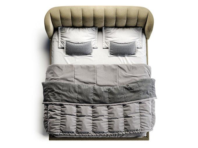 Кровать Tulip серо-бежевого цвета 180х200