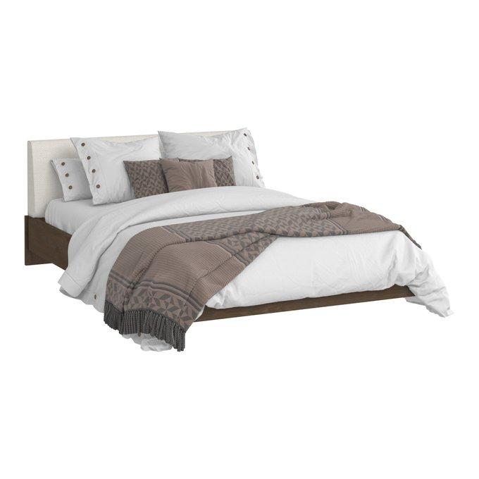 Кровать Сиена 140х200 с изголовьем молочного цвета