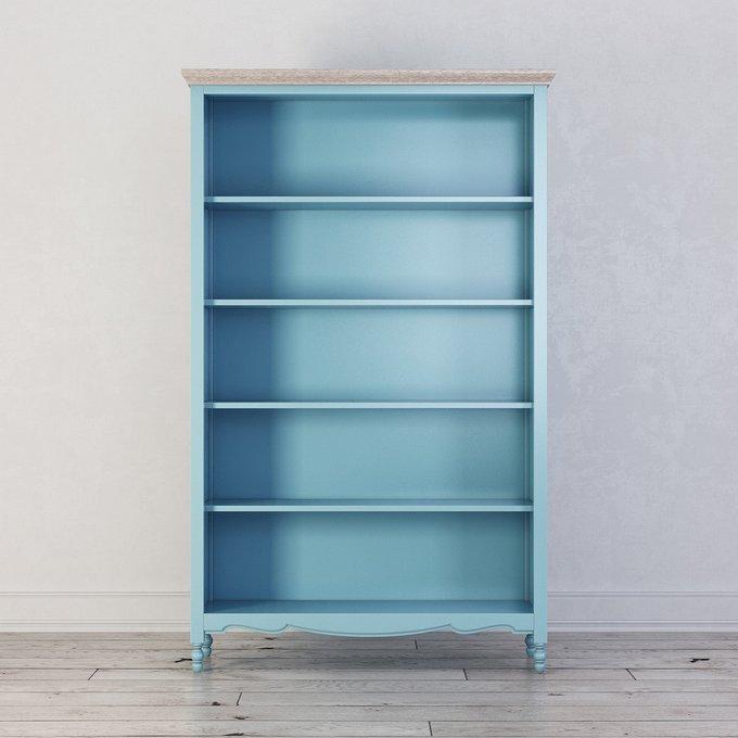 Стеллаж Leblanc голубого цвета