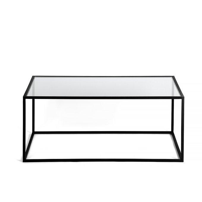 Журнальный стол London black прозрачное стекло