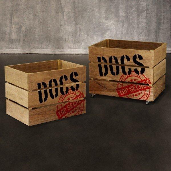 Дубовый ящик Docs из массива дуба
