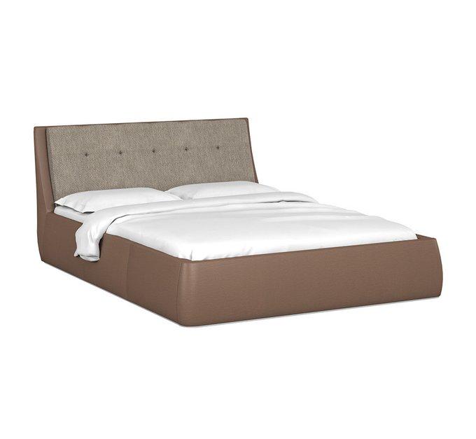 Кровать Гесиона 160х200 с серым изголовьем и подъемным механизмом