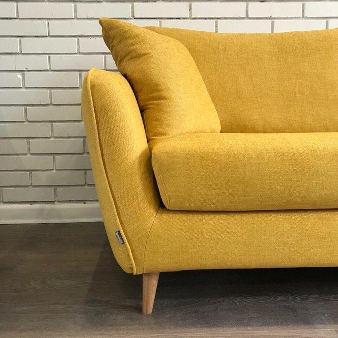 Прямой диван Faro желтого цвета