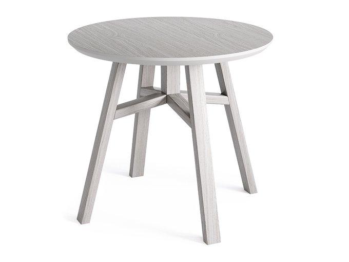 Журнальный стол Mack белёный дуб / молочный