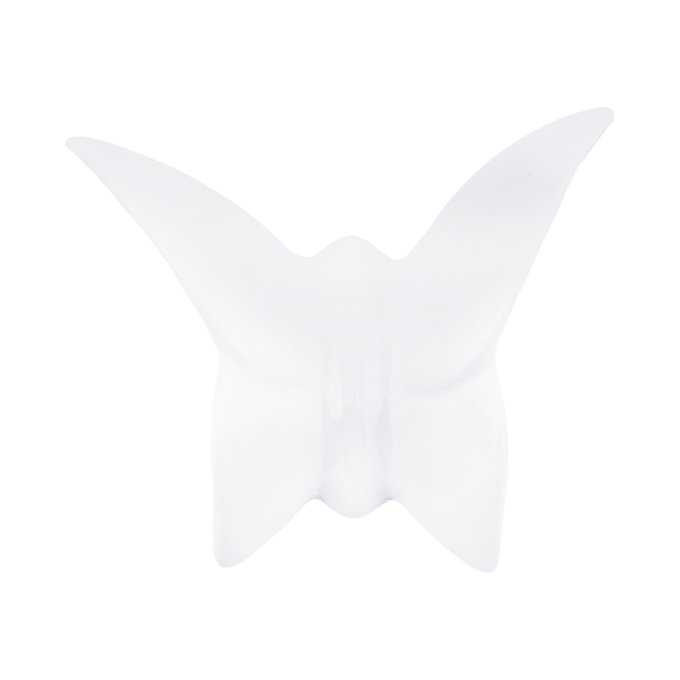 Настенный декор бабочка Mahaon 1 белого цвета