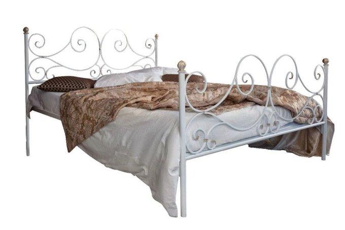 Кованая кровать Верона 1.6 с двумя спинками 160х200